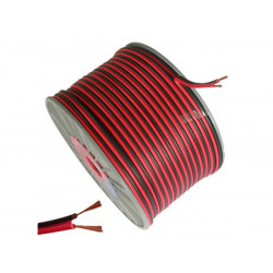 (CAB205) WIRE SPEAKER 2 X 1.0MM RED / BLACK CABLE 100M
