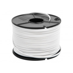 (CAB203) WIRE SPEAKER 2 X 0.5MM WHITE CABLE 100M WITH GREY LINE