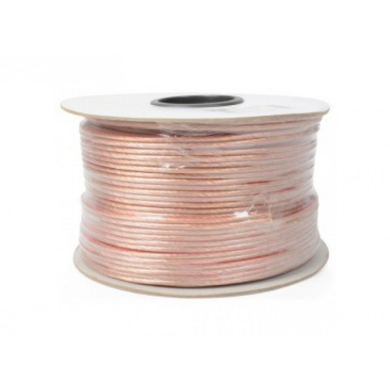 (CAB207) WIRE SPEAKER 2 X 1.5MM FLAT CABLE 100M 15AWG WITH RED LINE