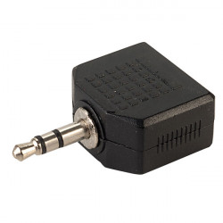 (CON505) 3.5MM STEREO PLUG TO 2 X 3.5MM STEREO SOCKETS