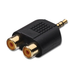 (CON506) 3.5MM STEREO PLUG TO 2 x RCA FEMALE SOCKETS