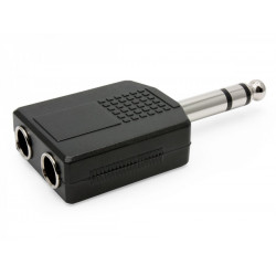 (CON516) 6.5MM STEREO PLUG TO 2 X 6.5MM STEREO SOCKETS