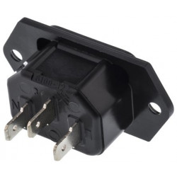 (CON659) AC PANEL MOUNT MALE