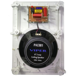 """(PAC081) 8"""" 2WAY RECTANGULAR CEILING SPEAKER QUICK FIT WITH CROSSOVER"""