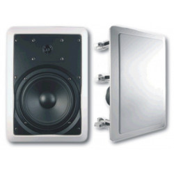 "(PAC081) 8"" 2WAY RECTANGULAR CEILING SPEAKER QUICK FIT WITH CROSSOVER"