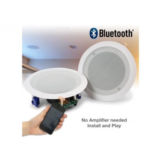 "(PAC055) BLUETOOTH POWERED CEILING SPEAKER KIT 5.25"" ROUND 2-WAY CO-AXIAL (PAIR)"