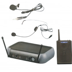 (MIC203) CORDLESS LAPEL/ HEADSET MICROPHONE SYSTEM - UHF