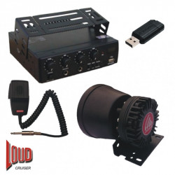 (PAM105) LOUDCRUISER ENGINE COMPARTMENT MOUNTED VEHICLE PA SYSTEM KIT