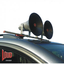 (PAM100B) LOUDCRUISER ROUND HORN ROOF MOUNTED VEHICLE PA SYSTEM KIT