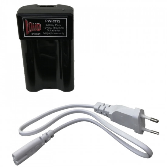 (PWR312) 12V LI-ION BATTERY PACK FOR MEGAPHONE WITH CHARGING CABLE