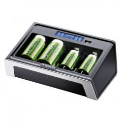 (PWR103) VARTA LCD UNIVERSAL CHARGER FOR NiMH BATTERIES (4 x AAA /AA /C/D  (1 x 9V ) + USB)
