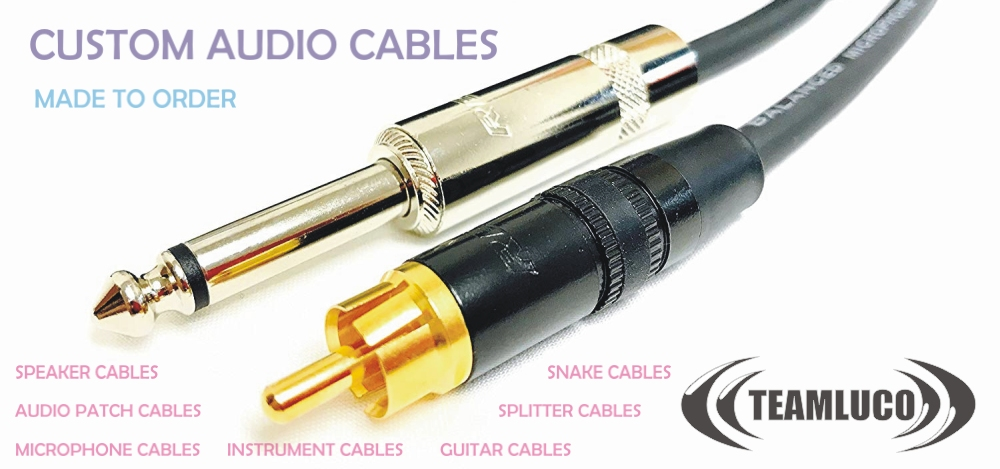 audio cables, sound cables, speaker cables, snake cables, guitar cables, instrument cables, microphone cables, splitter cables, rca cables